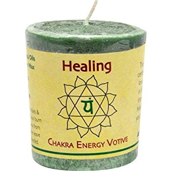 Healing Votive With Heart Chakra Activation