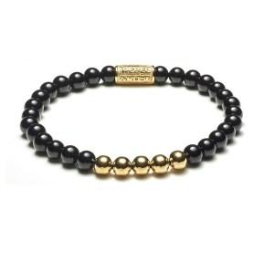 Armband Black Panther goud 6mm