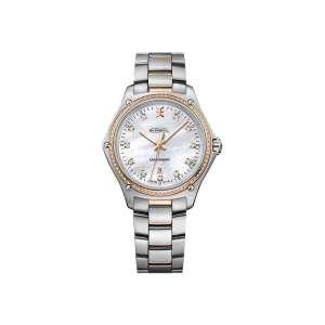 Dames horloge uit de Ebel Discovery collection - uitgevoerd met staal gouden kast en band en een briljanten lunette - De Ebel collectie is verkrijgbaar bij Sparnaaij Juweliers in Aalsmeer