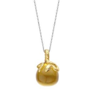 Ti Sento hanger - Een helder gele steen met een vervulgde slag erop - Te koop bij Sparnaaij Juweliers in Aalsmeer en Hoofddorp
