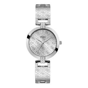 Guess G Luxe zilverkleurig dameshorloge met G logo - Te koop bij Sparnaaij Juweliers in Aalsmeer en Hoofddorp