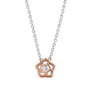 Ti Sento flower collier in het roseverguld - Fall Winter 2019 - Te koop bij Sparnaaij Juweliers in Aalsmeer en Hoofddorp