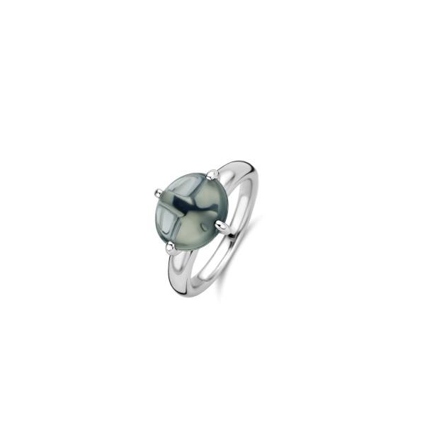 Zilveren ring van Ti Sento met groene kleursteen - Te koop bij Sparnaaij Juweliers in Aalsmeer en Hoofddorp