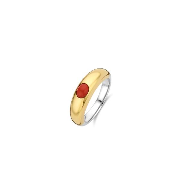 Zilveren ring met 18k goude plating van Ti Sento - Te koop bij Sparnaaij Juweliers in Aalsmeer en Hoofddorp