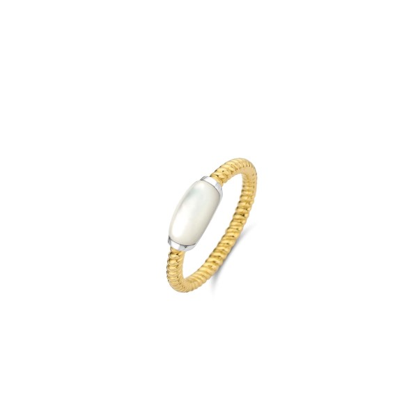 Goudkleurige ring van Ti Sento met parelmoer schelp - Te koop bij Sparnaaij Juweliers in Aalsmeer en Hoofddorp
