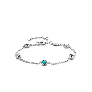 Zilveren armband van Ti Sento met verschillende kleurstenen - Te koop bij Sparnaaij Juweliers in Aalsmeer en Hoofddorp