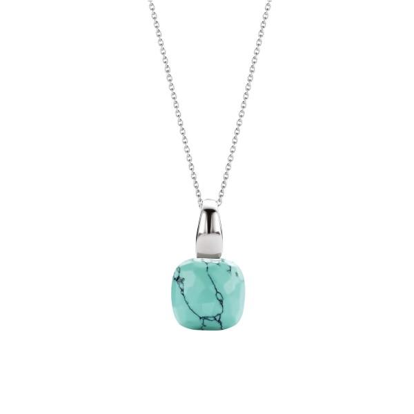 Turquoise hanger van Ti Sento met fantasie geslepen steen - Te koop bij Sparnaaij Juweliers in Aalsmeer en Hoofddorp
