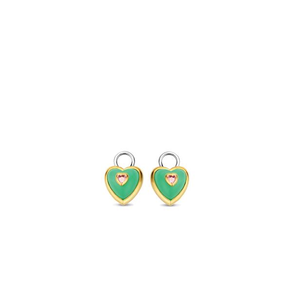 Sparniaaij Juweliers - Ti Sento x Danie Bles - oorbedels hart turqoise
