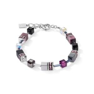 Coeur de Lion armband - Zilver, paars howliet en onyx - Te koop bij Sparnaaij Juweliers in Hoofddorp