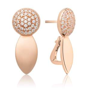 Sparkling Jewels - Oorstekers crystal rosegouden plating - Te koop bij Sparnaaij Juweliers in Aalsmeer en Hoofddorp