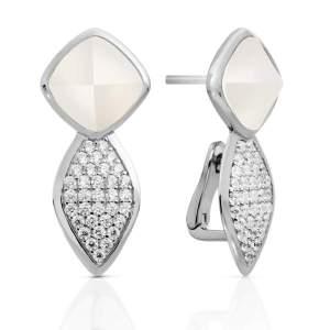 Sparkling Jewels - Oorstekers crystal parelmoer - Te koop bij Sparnaaij Juweliers in Aalsmeer en Hoofddorp