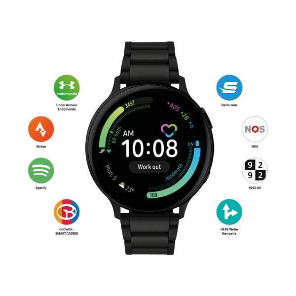Samsung Active2 smartwatch SA.R820BS - Strava - Spotify - WhatsApp - NOS