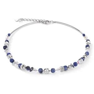 Coeur de Lion - Collier sodaliet staal twistedpearls - Te koop bij Sparnaaij Juweliers in Hoofddorp