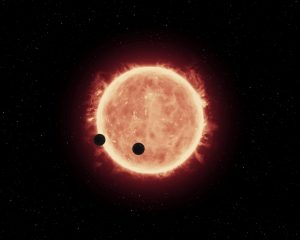 Planets around a red star