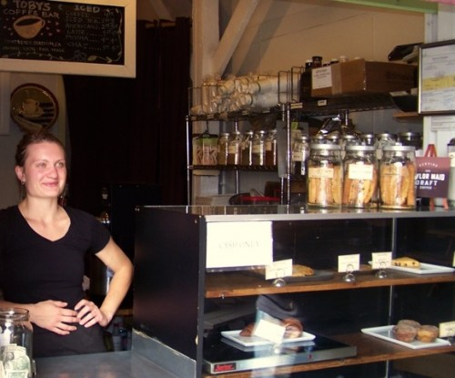 Barista Jenna Rempel of Inverness at Toby's Coffee Bar.