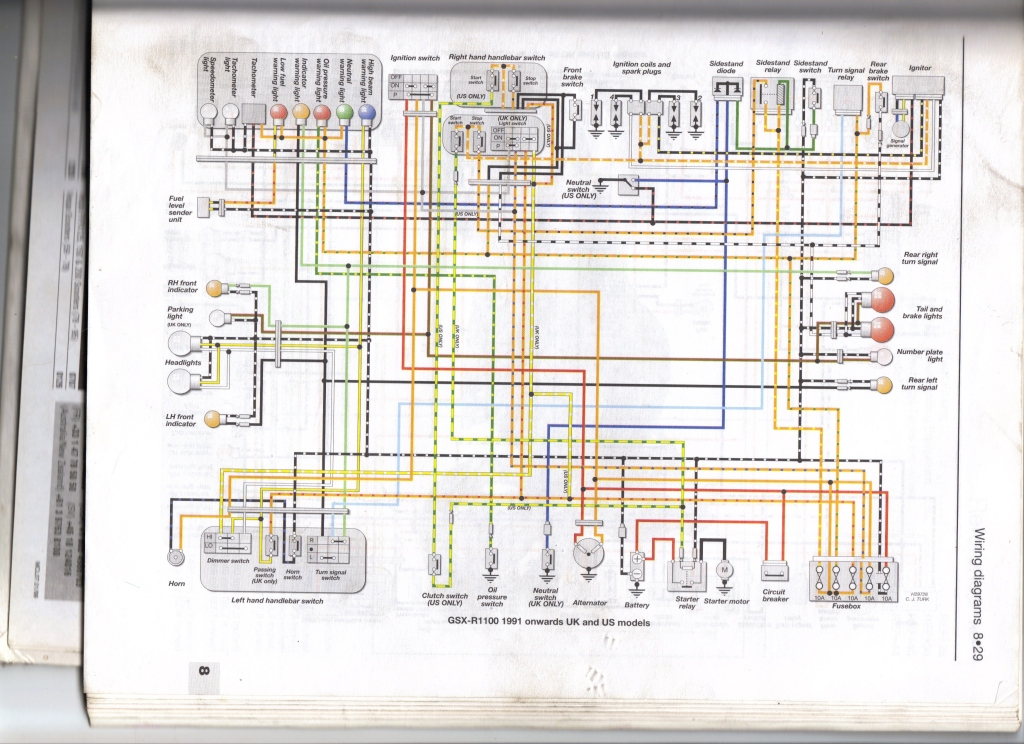 Suzuki Bandit Wiring Diagram : Wiring diagram suzuki bandit schemes