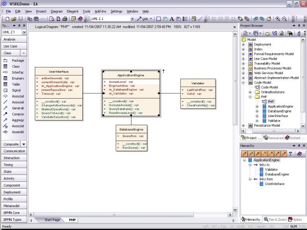 Model PHP UML diagrams for code engineering and generation ...