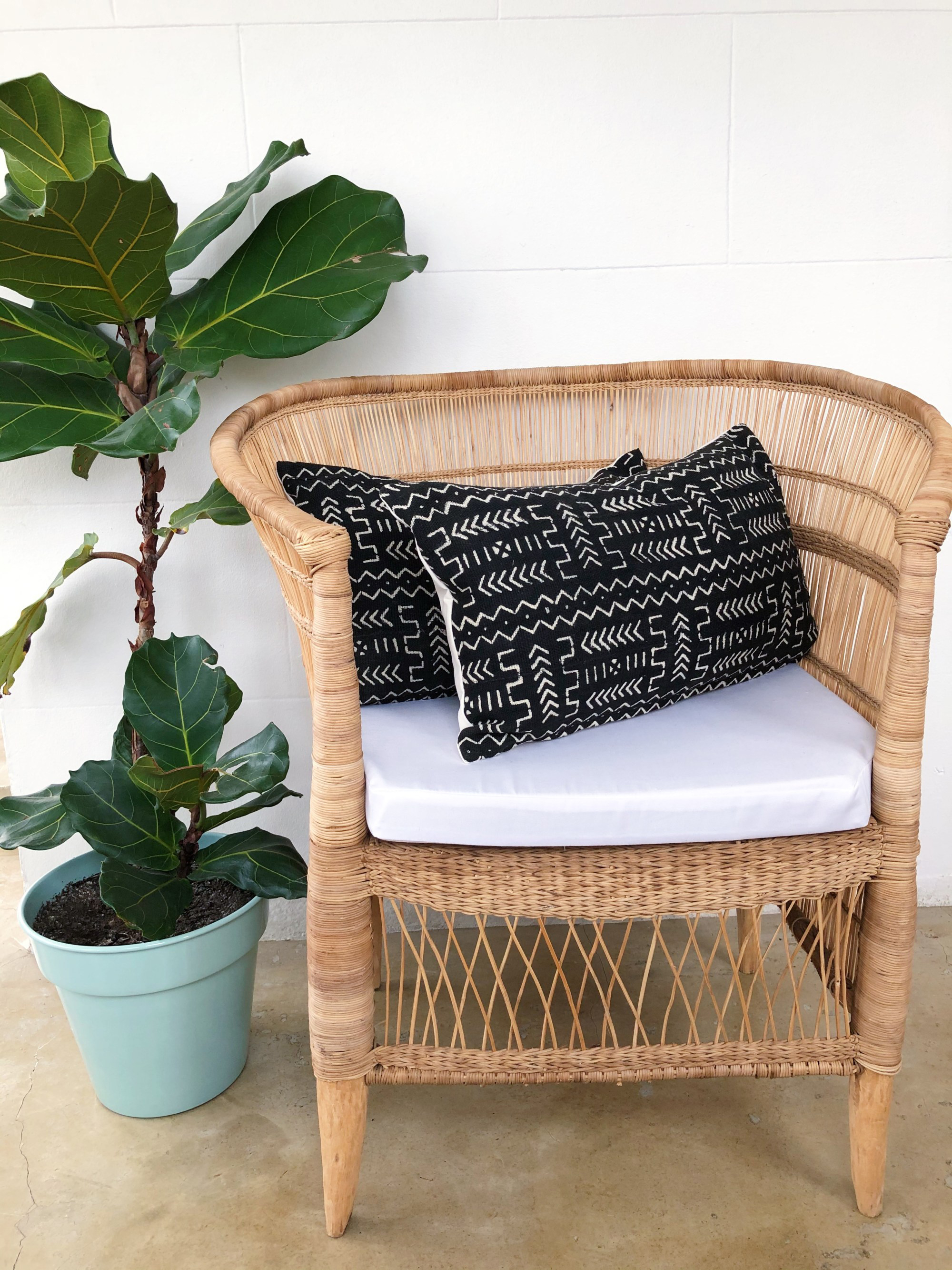 Malawian mud cloth pillowcase