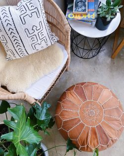 Mali mudcloth pillow Spases scatter cushion authentic Moroccan pouf