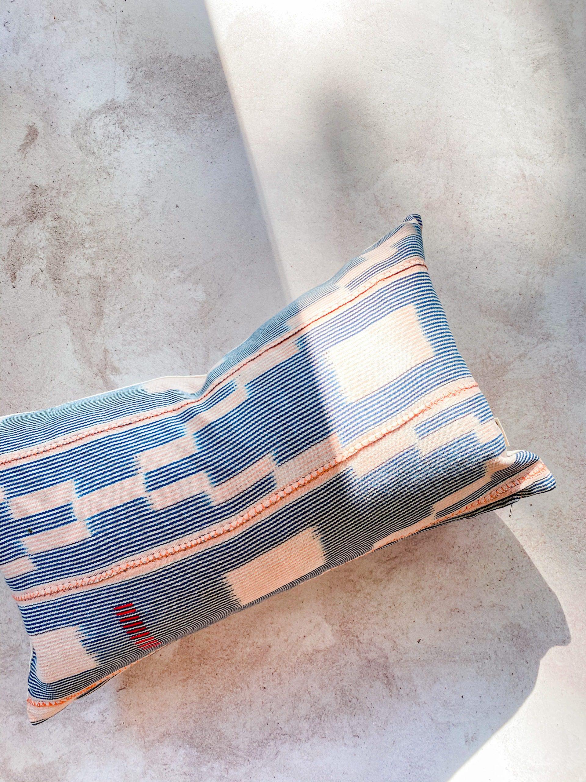 Baule pillow mudcloth throw pillow indigo Spases