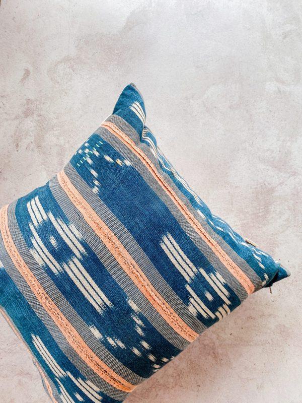 Baule pillow mudcloth throw pillow indigo