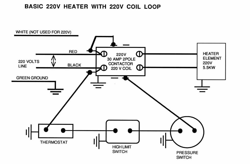 Wiring 220 Volt Heaters