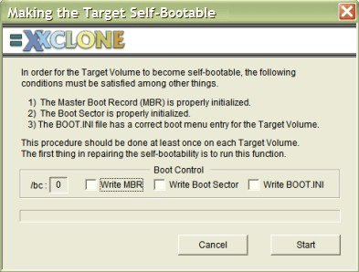 XXCLone Cool Tools Make Bootable