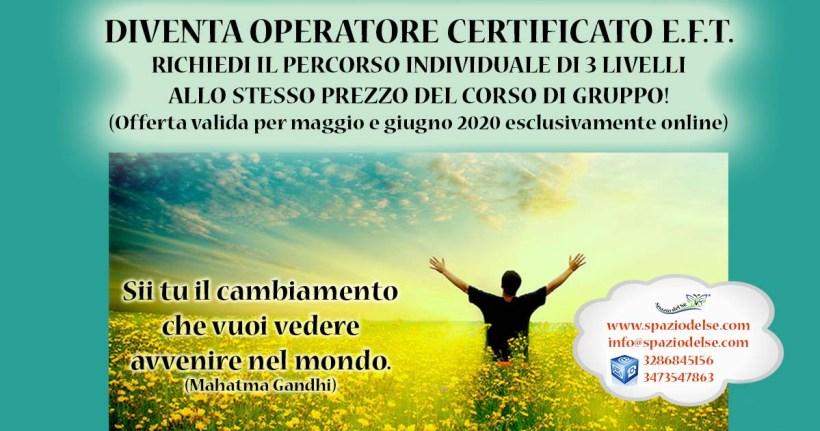 Maggio/Giugno 2020 - Corso EFT online