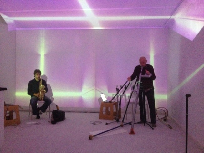 Rehearsing with Werner Durand