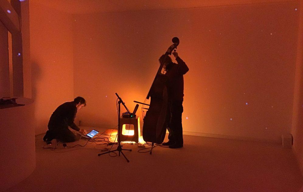 Spazioersetti - recording session - just intonation pitches with Nicola Negrini - photo Alessandra Zucchi