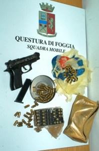 pistola giocattolo rimaneggiata foggia