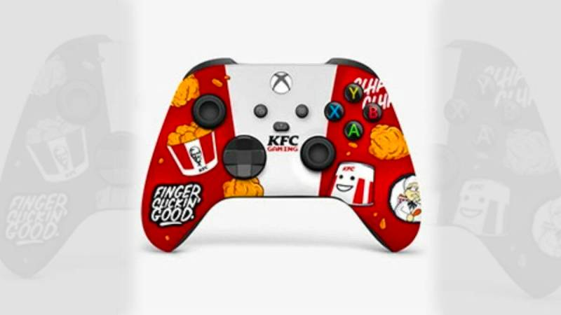 The KFC controller manufactured for the Xbox Series X, plus the console to keep the chicken warm