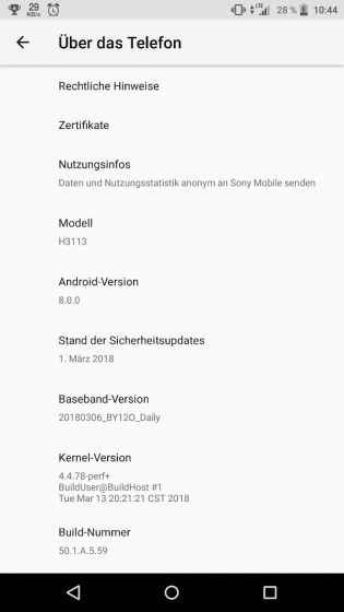 Patch marzo per Sony Xperia XA2 e XA2 Ultra