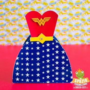 Caixa Tictac mulher Maravilha Heróis Cute de Papelaria Personalizada Uberlândia