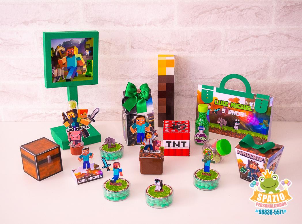 Papelaria Festa Infantil Minecraft