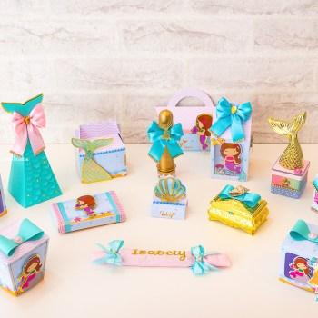 Kit de Luxo - Festa personalizada Sereia