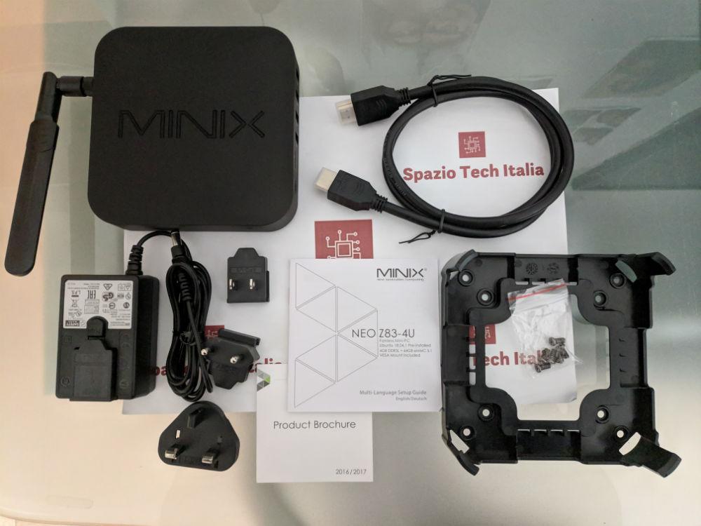 Recensione: MINIX NEO Z83-4U - Il mini PC con 4GB RAM, Ubuntu 18 04 1 e  attacco VESA incluso | Spazio Tech Italia