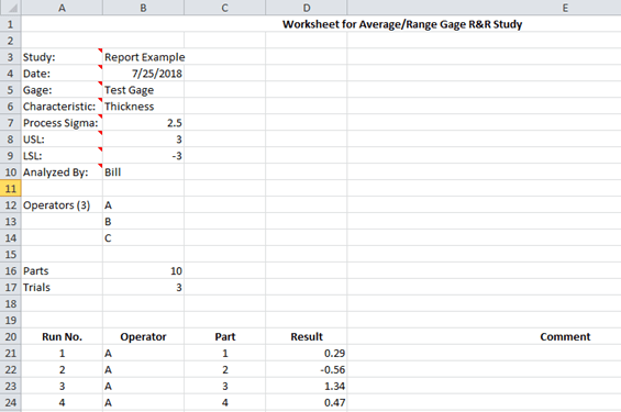 Average And Range Method Gage R Amp R Help