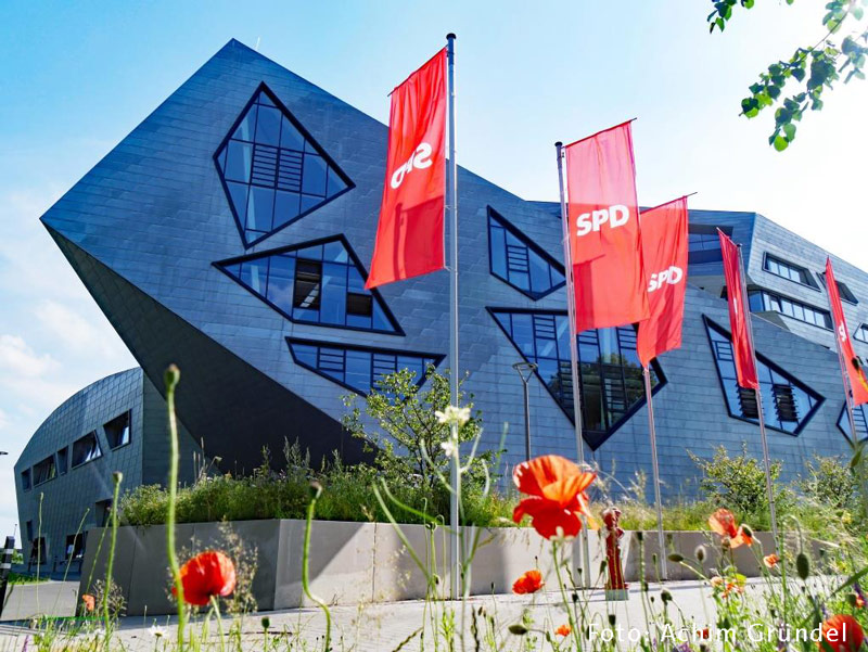 Bezirksparteitag, SPD, Lüneburg, Bezirk Hannover, Leuphana Universität Lüneburg, Zentralgebäude, Libeskindbau