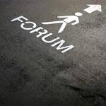 Piktogramm mit Wegbeschreibung zum Forum