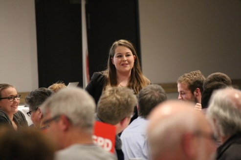 Mitgliederversammlung SPD Waltrop Vanessa Meiritz