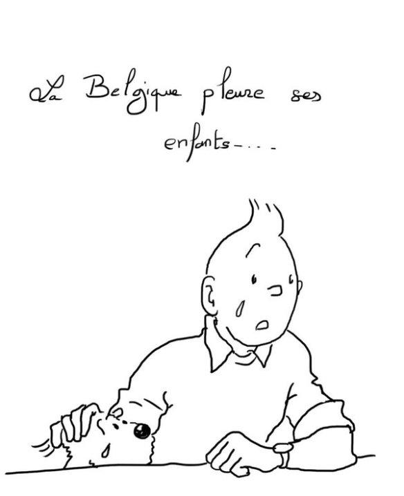 la Belgique pleure ses enfants