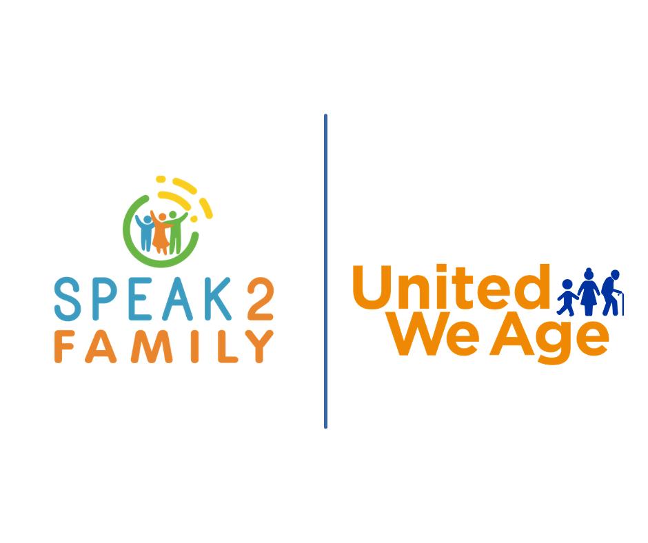united we age and speak2 logos
