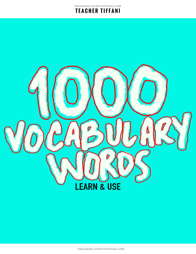 English Vocabulary With Pictures Pdf