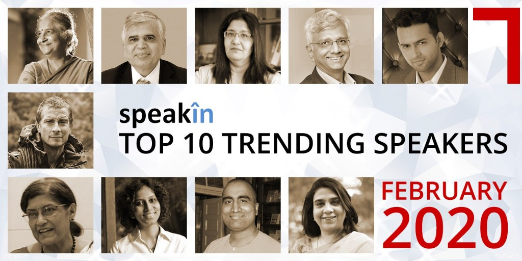 SpeakIn Releases the Top Ten Trending Speakers for February 2020