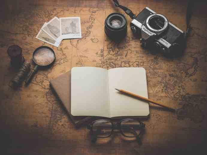 Map & Moleskine Notebook