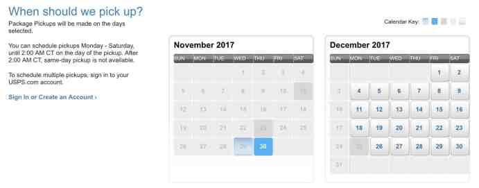USPS Schedule Date