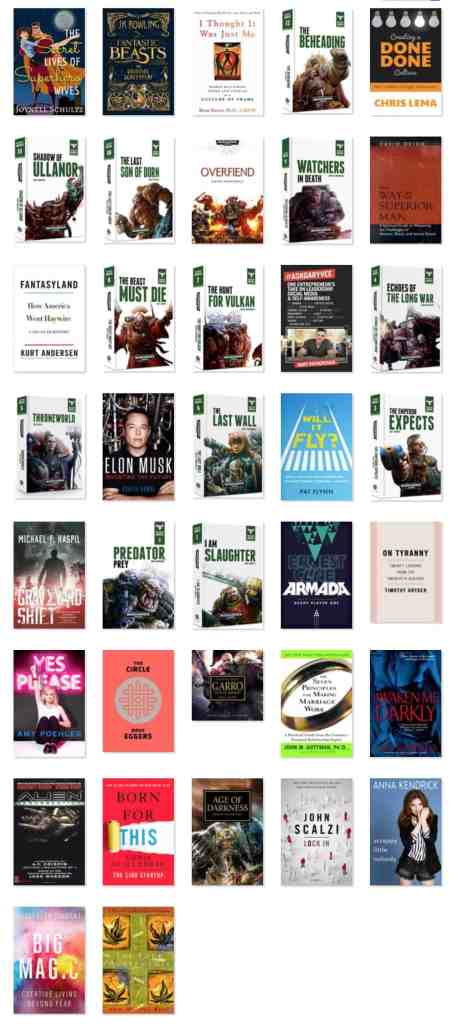 The books I read in 2017