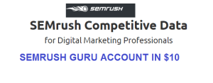SEMrush Guru Account For Sale