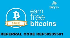 Zebpay Referral Code REF50205581 Get Free 100 INR Now